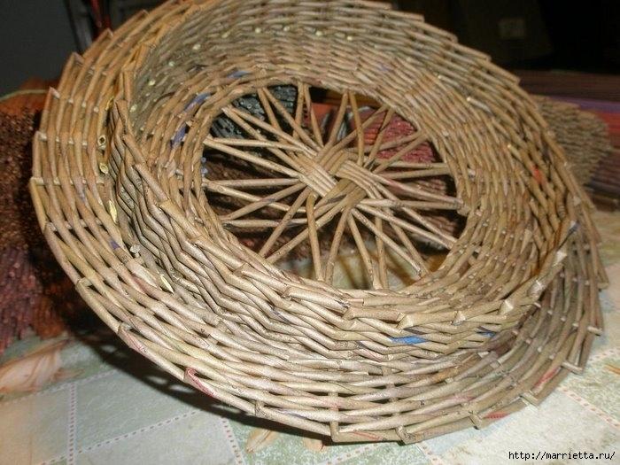 Крышка из газетных трубочек мастер класс с пошаговым фото