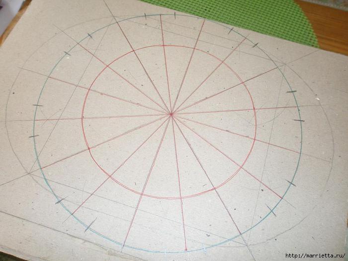 Плетение из газет. Интересный вариант плетния для панно или крышки корзинки (5) (700x525, 149Kb)
