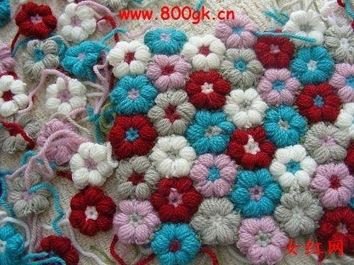 Handmade-kursy ,wzory ,tutoriale: Kwiatki z wełny bez użycia ...