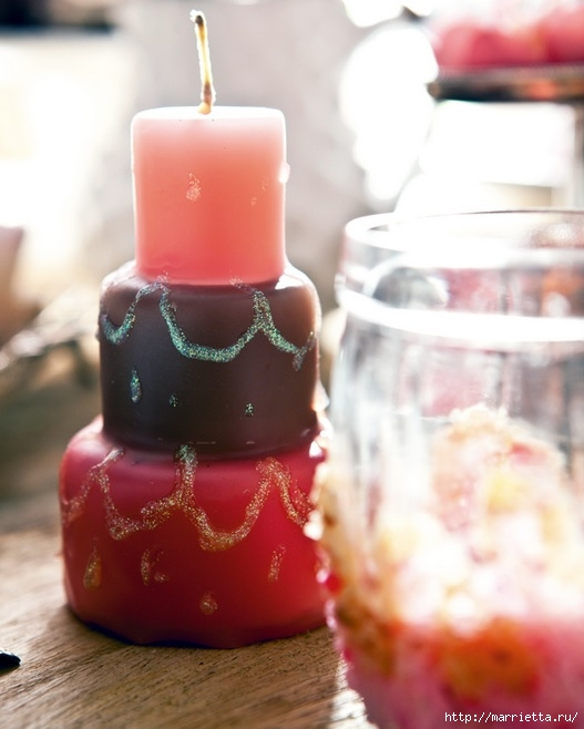 Свечи в форме торта для романтического вечера (1) (527x658, 151Kb)