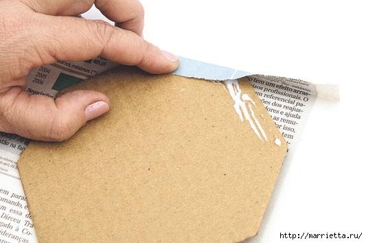 Плетение из газетных полосок. Вазочка для сухоцветов (8) (533x354, 95Kb)