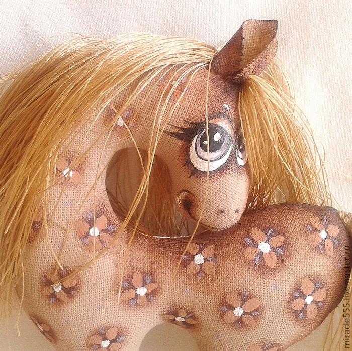 кофейная текстильная лошадка к новому году (4) (700x699, 465Kb)