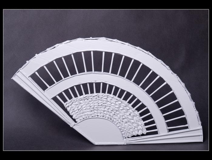 ВЕЕР из картона и газетных трубочек. Много идеи и мастер-класс (7) (699x529, 241Kb)