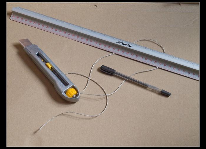 Веер своими руками из картона и бумажных трубочек (4)