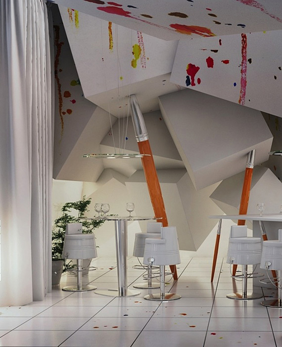 креативный дизайн интерьера фото 2 (567x700, 324Kb)