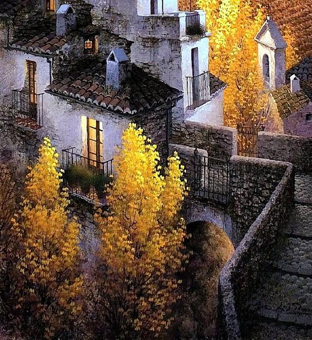 Luis Romero. Tarde de otoño (643x700, 259Kb)