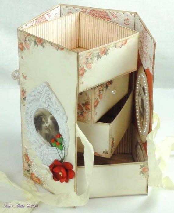 Скрапбукинг. Очень красивая коробочка (33) (571x700, 227Kb)