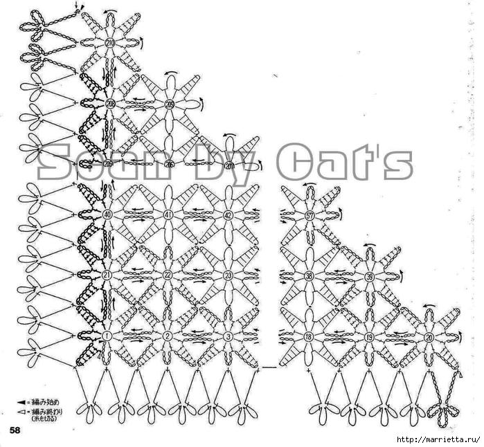 Вязание крючком. Модели со схемами (18) (700x646, 291Kb)