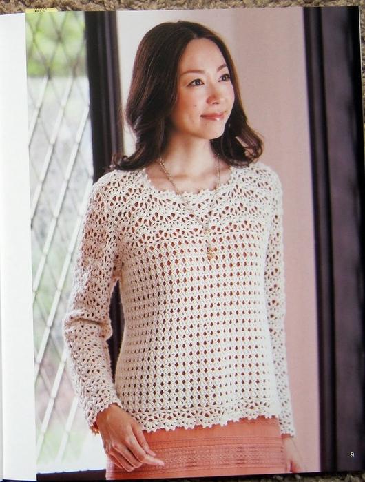 Вяжем красивые ажурные блузы