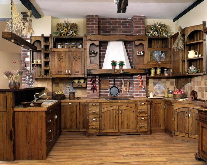 кухня в стиле кантри (1) (700x557, 348Kb)
