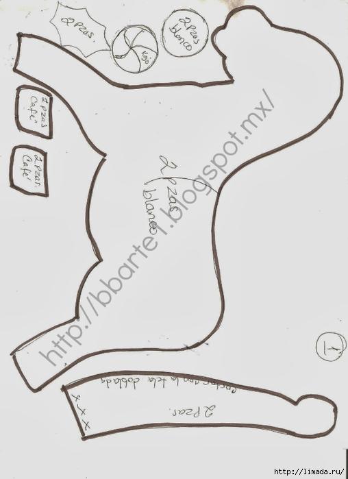 caballito navideño molde1 (508x700, 123Kb)