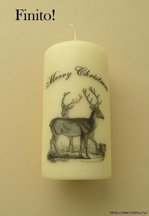Винтажные свечи своими руками. Перенос распечатки на принтере (9) (483x700, 178Kb)