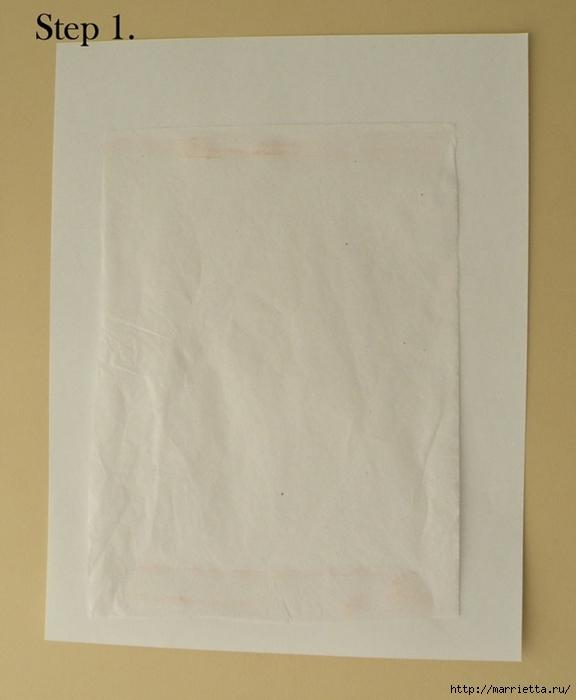 Винтажные свечи своими руками. Перенос распечатки на принтере (11) (576x700, 166Kb)