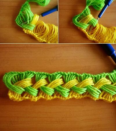 Веселый шарфик, вязание крючком на линейке (5) (400x450, 177Kb)