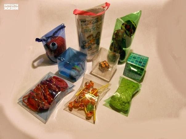 Как сделать коробочки для подарков из пластиковых бутылок