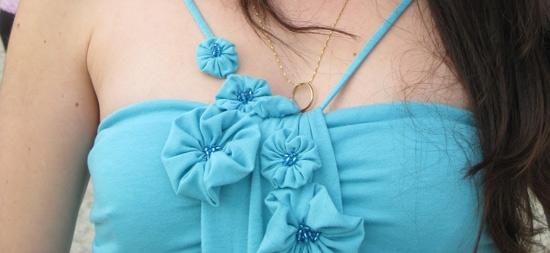 Цветы из ткани как украшения