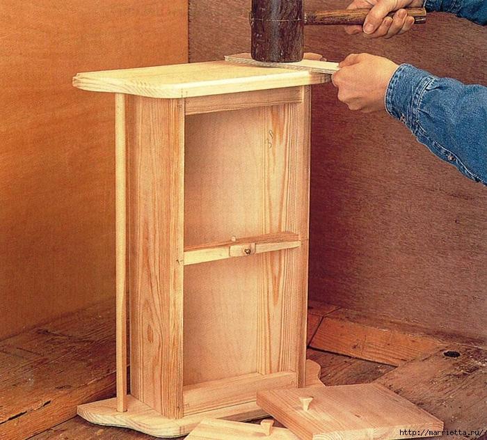 Мебель своими рукам. Шкафчик с дверцами для ванной комнаты (6) (700x632, 384Kb)