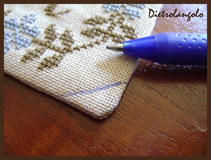 Стильная игольница из льна с вышивкой. Фото мастер-класс (4) (700x532, 282Kb)