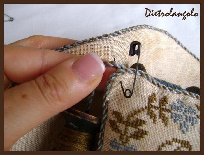 Стильная игольница из льна с вышивкой. Фото мастер-класс (16) (700x532, 240Kb)