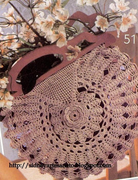 Красивые сумки крючком