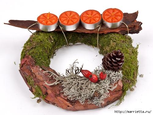 Красивые идеи для декора из природных материалов (21) (500x374, 167Kb)