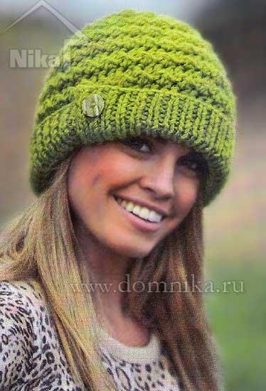 4108541_vjazanaja_shapka_s_otvorotom_22 (374x550, 34Kb)