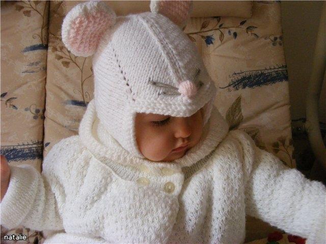Детская шапочка МЫШКА. Вязание спицами (2) (640x480, 152Kb)