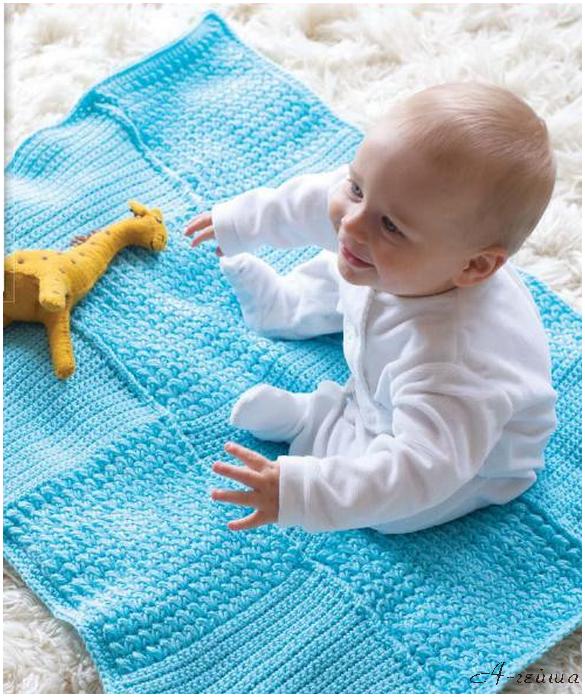 Вязание детских пледов для малышей