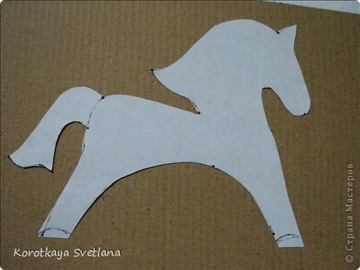 Как сделать поделку из картона лошадь