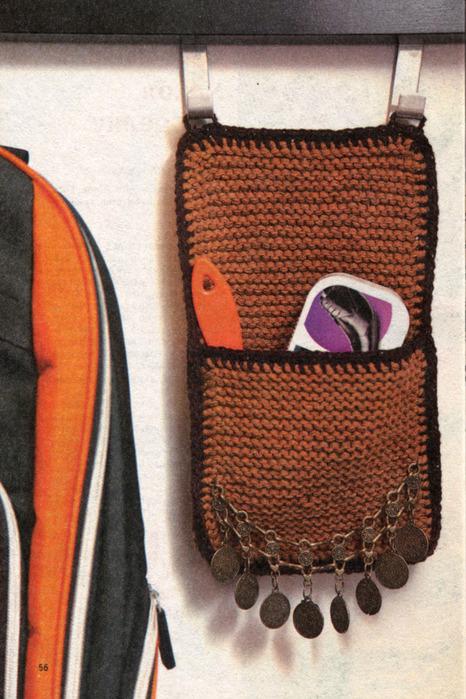 Вязание крючком на стену кармашка для расчески