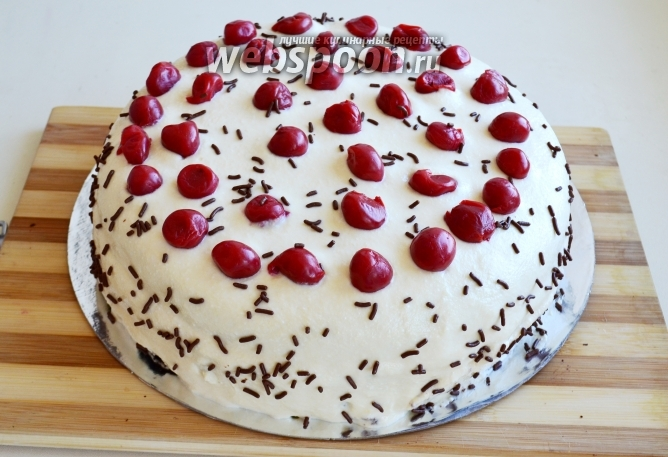 торти з вишнями рецепти з фото