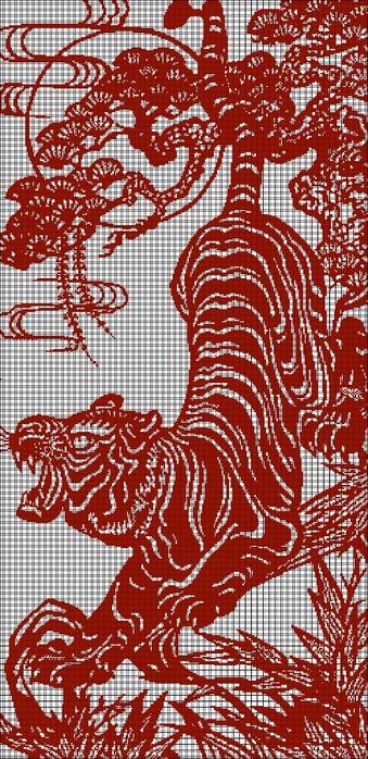 китайский тигр (339x700, 295Kb)