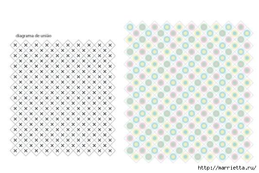 Детское одеялко крючком. Схема (2) (533x355, 117Kb)