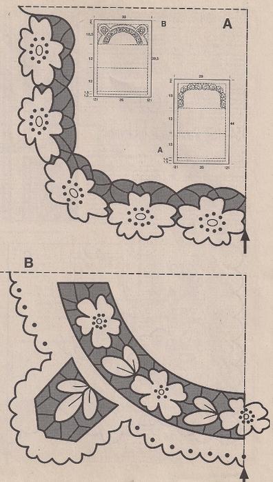Идеи для вышивки ришелье