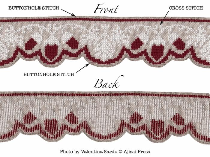 вышивка крестиком, с желудями (6) (700x525, 273Kb)
