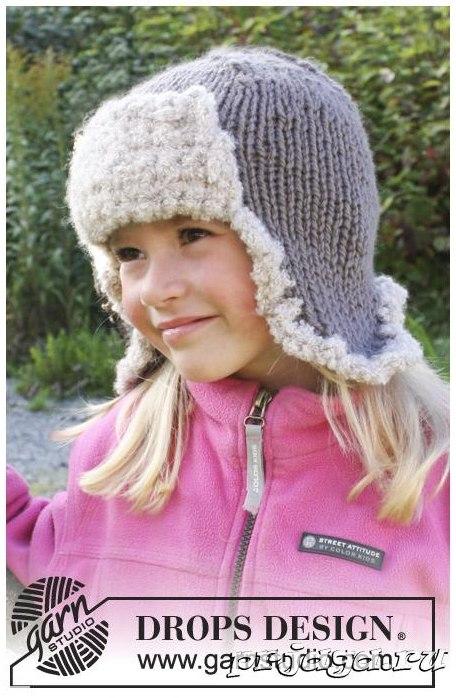 Детская шапка-ушанка спицами