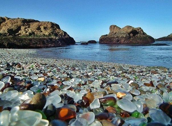 Стеклянный пляж. Калифорния (604x441, 94Kb)