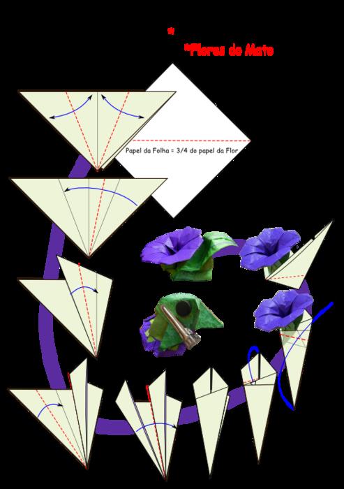 Схема сборки оригами животные