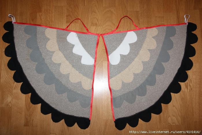 Крылья для костюма птицы своими руками