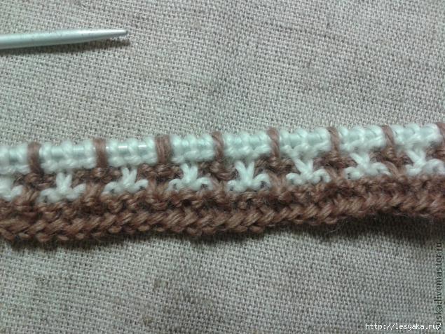 Правила смены нити при вязании крючком, жаккардовое 64