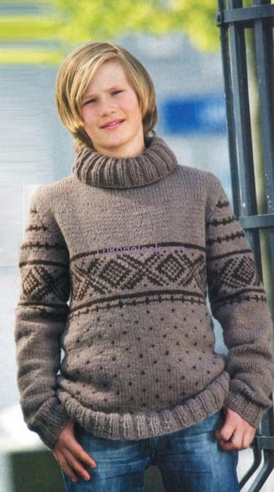 свитер подростковый (389x700, 79Kb)