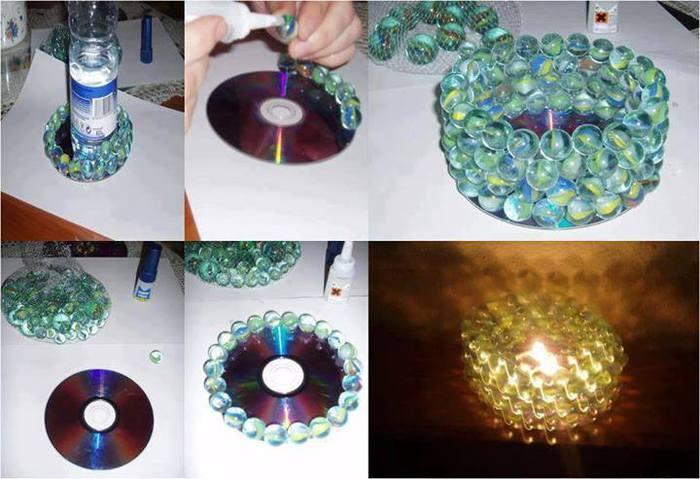 Шарики из дисков своими руками