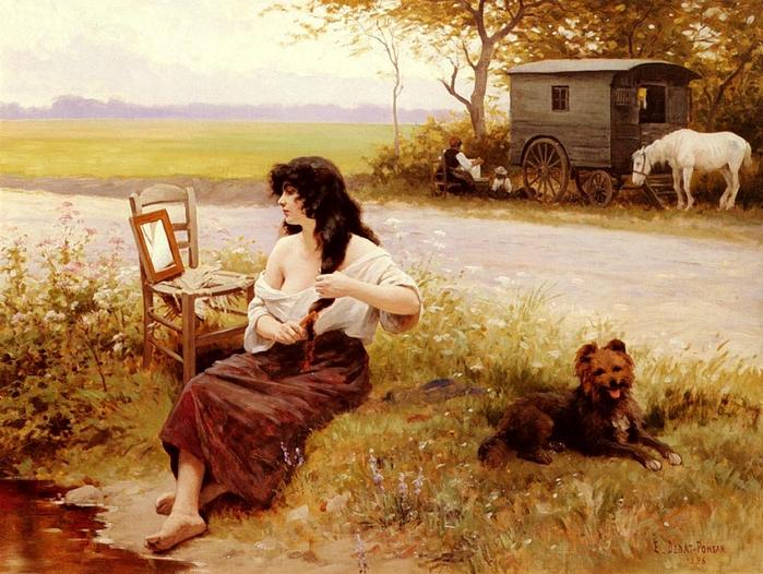 Edouard Debat-Ponsan - La Gitane à la Toilette (1896) (700x526, 328Kb)