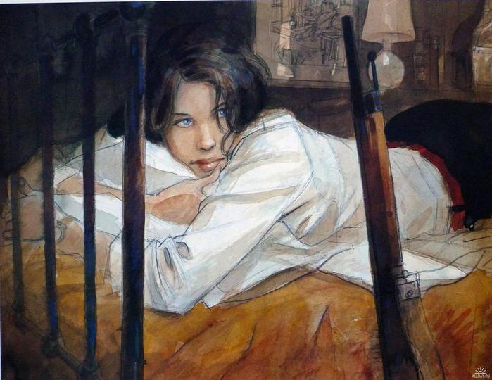 Художник - иллюстратор Jean-Pierre Gibrat2 (700x540, 59Kb)