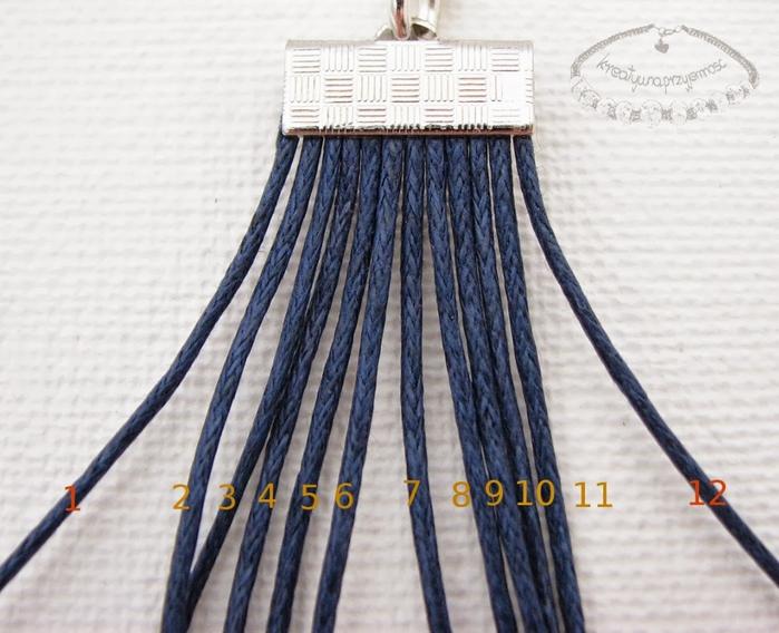 Bracelet en l'art de la dentelle de macramé et perles.  Master Class (8) (700x568, 262Kb)