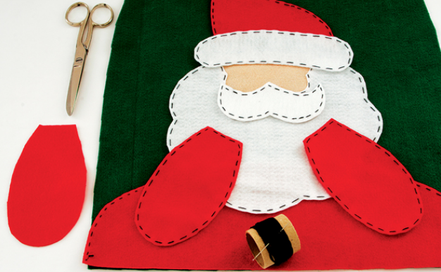 Дед Мороз на унитазе. Готовимся к празднику, шьем для ванной комнаты (6) (626x386, 419Kb)