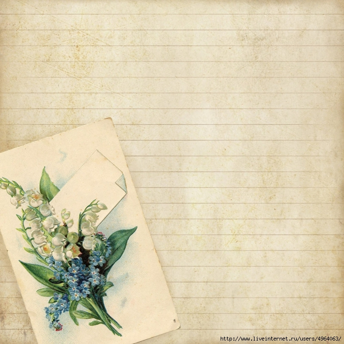 8x8 lined floral notecard paper ~ lilac-n-lavender (700x700, 358Kb)