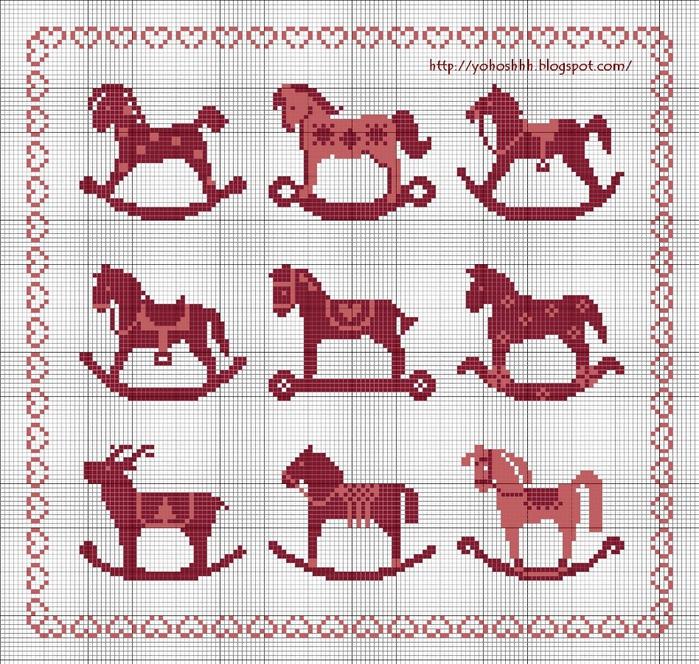 Лошадки-качалки схема- (700x664, 431Kb)