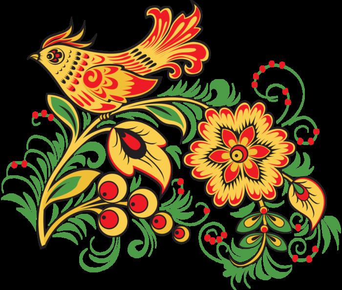 Пошаговый рисунок хохломы