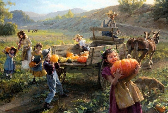 Morgan Weistling (р.1964) End of Harvest (700x471, 356Kb)